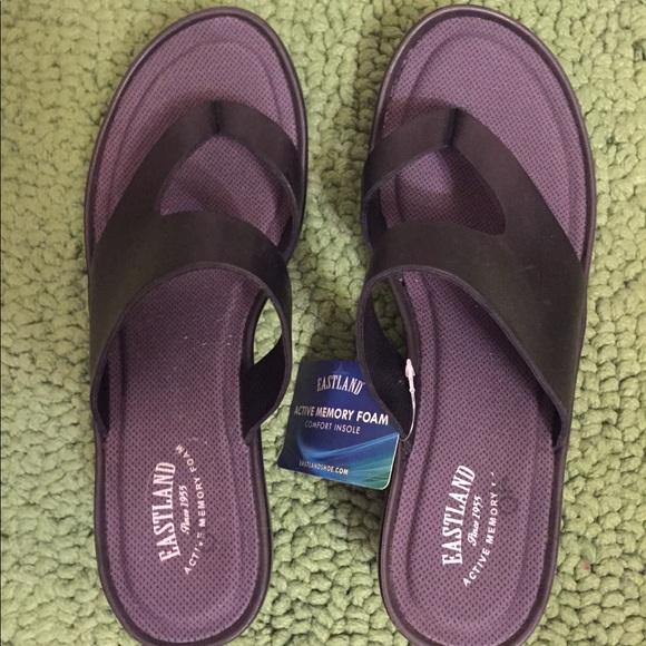 6f3e15710445 Black - Eastland Laurel Memory Foam Sandals